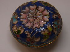 Alte Pillendose Schmuckdose Cloisonne Emaill Pillbox Box Dose Floral Schatulle 1