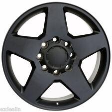 """New Set of 4 2001-2010 Chevy Silverado 2500 8 Lug Black Matte 20"""" Wheels Rims"""