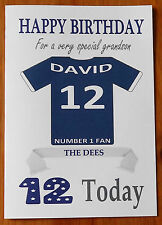 """DUNDEE FAN Unofficial PERSONALISED Football Birthday Card (""""THE DEES"""")"""