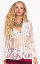 SPELL & THE GYPSY COLLECTIVE 'Ophelia Lace Blouse' - White - L - Sold Out
