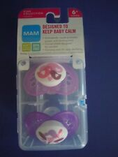 MAM  BIRDS + BUTTERFLIES  Set Of 2 Pacifiers Orthodontic Nipples PINK COLLECTION