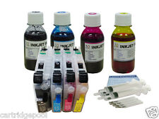 4x100ml Ink +4 Refillable cartridge For Brother LC103 L105 LC109 J4510DW J6920DW