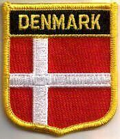 Denmark Danish Dane Country Flag Embroidered Patch T7