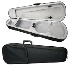 New Black Silver Gray 4/4 Full Size Acoustic Violin Case