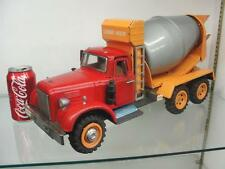 "HUGE JAPAN FRICTION RARE SSS TIN CEMENT TRUCK TOY 20"" COMPLETE AND WORKING LARGE"