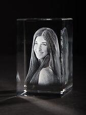 3D Laser Foto im Viamant Glas Block Torino 50x80x50mm Glasfoto Bilder Geschenk