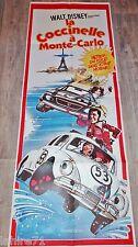 LA COCCINELLE A MONTE-CARLO !  affiche cinema rare animation cars 1977 herbie