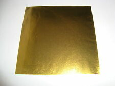 "4"" x 4"" Gold Confectionery/Chocolate Foil Wrappers, pack of 50 - Free 1st class"