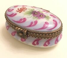 Limoges France Porcelain Signed & Numbered Peint Main Hand Painted Trinket Box