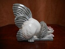 A RARE  FRENCH POTTERY FIGURINE OF A COCKEREL SIGNED G H LAURENT ART DECO PERIOD