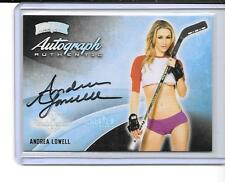 2014 BENCHWARMER HOLLYWOOD HOCKEY PREVIEW ANDREA LOWELL AUTO,AUTOGRAPH,SIGNED