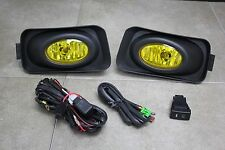 04-05 Acura TSX JDM Yellow Fog Light Kit + Harness + Switch
