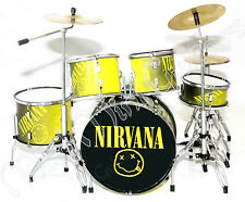 Miniature Drum Kit Set NIRVANA. Kurt Cobain