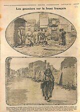 Soldats Goumiers Tirailleurs Algériens Bataille de Champagne France  WWI 1915
