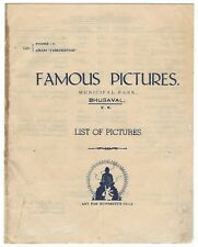 India 1946 Bollywood Distributor's List of Pictures Bicycle Thief in Hindi Italy