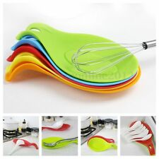 Silicone Spoon Rest Heat Resistant Teabag Spatula Utensils Dish Cooking Kitchen