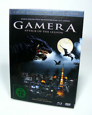 GAMERA ATTACK OF THE LEGION Limited Edition DVD + BluRay BD Film 3 Discs