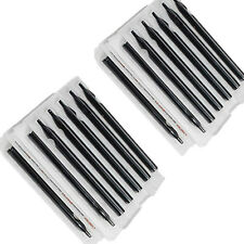 50 pcs/10 pack Disposable Tattoo Tubes Nozzle Tips needles Black mixed size