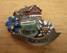 Vintage Oktoberfest Hiking German Bavarian Ski Hat Pin ODENSEE