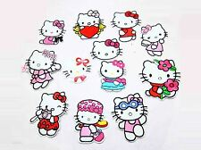 12 pcs Lovely Hello Kitty Sewing Notions Patch Iron On Embroidered Appliques