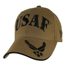 U.S. Air Force Wings Hat - USAF Coyote Brown Baseball Cap 6651