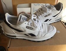 Vintage Leather Jewel Logo Reebok Classic Leather 10 White gl 6000 Blue