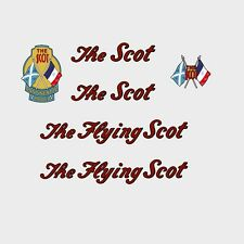 The Flying Scot Bicycle Frame Stickers - Decals - Transfers - n.04