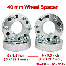 (4) 1/2-20RH 5x5.5 to 6x5.5 inch Wheel Spacer Fit Dodge Ram Ramcharger Truck