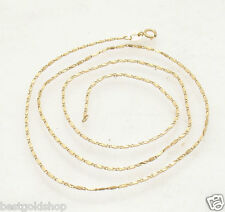 """18"""" Diamond Cut Sparkle Valentino Chain Necklace Real Solid 14K Yellow Gold"""