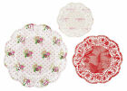24 x Vintage Style Doilies Tea Party Dolieys Pretty Floral 3 sizes in pack