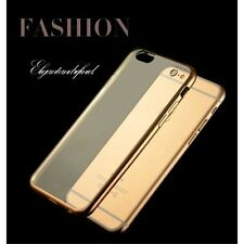 Cover Custodia Silicone Morbida con Placcatura per iPhone 6 6s GOLD