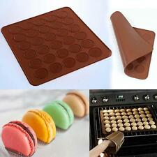 30-cavity Silicone Macaroon Pastry Baking Sheet Oven Mat Cake Mold Coffee New SM