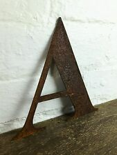 A Rusty Rusted Steel Metal Letter Industrial Sign Garden Decoration Ornament