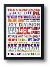 1980 Peel Festive 50 Indie Bands Art Poster(Joy Division Clash Sex Pistols Fall)