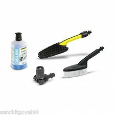 Karcher car bike cleaning 4 pc accessory kit for pressure washer brush shampoo