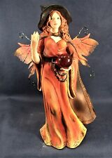 Witch Fairy Red Dress And Crystal Ball mythical Fantasy Figurine decor