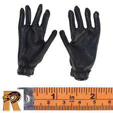 SS Tank Crew - Black Leather Gloves - 1/6 Scale - Alert Line Action Figures