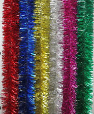 """10pc 2M/80""""Xmas Colorful Tinsel Garland Tree Garden Party Room Clothes Decorate"""
