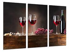 Cuadro Moderno Fotografico Vino Tinto, Uvas, Bodega, 97 x 62 cm ref. 26313