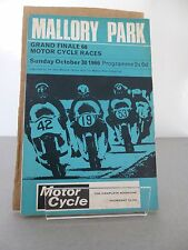 Mallory Park Grand Finale  Motor Cycle Race Programme 30th October 1966