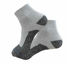4 PAIRS FIRST QUALITY ANKLE HEAVY SOCKS COTTON SOCKS GRAY BLACK BOTTOM SOCKS