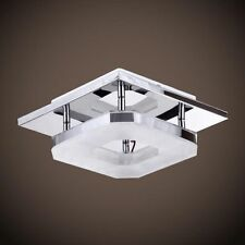 Artistic LED Crystal Stainless Flush Mount Square Ceiling Lamp for Living Room