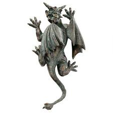 Gothic Menacing Horned Demon Gargoyle Wall Sculpture Medieval Statue