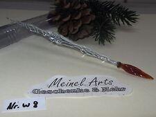 1 x Glasfeder Glasschreiber W8 Federhalter aus Lauschaer Glas Handarbeit NEW