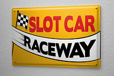 Sports Tin Sign slot Car Metal Plate