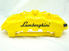 4x 105mm LAMBORGHINI BLACK BRAKE CALIPER DECALS STICKERS HIGH TEMP