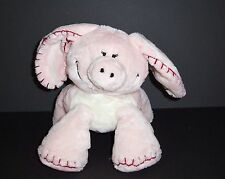 "9"" Babystyle Pink Plush Pig Stitched Accents Stuffed Animal Lovey Toy Piggy"