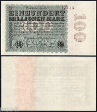 ALEMANIA GERMANY 100 MARK MARCOS 1923 Pick 107b SC-  /   A/UNC