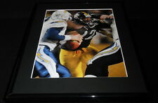 James Harrison vs Philip Rivers Framed 11x14 Photo Display Steelers Chargers