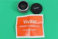 Vivitar Automatic Tele Converter 2X-4 FL-FD Vintage Camera Lens Made in Japan